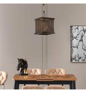 Hängelampe - Bronze, Dark Walnut