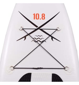 """SUPRFIT - SUP Gonflable Lailani - 10.8' 30.7"""" 6""""/330 x 78 x 15 cm - Blanc et Noir"""