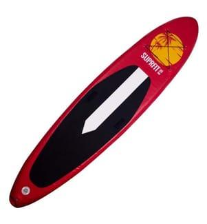 """SUPRFIT - SUP Gonflable Halia - 10.8' 30.7"""" 6""""/330 x 78 x 15 cm - Noir et Rouge"""
