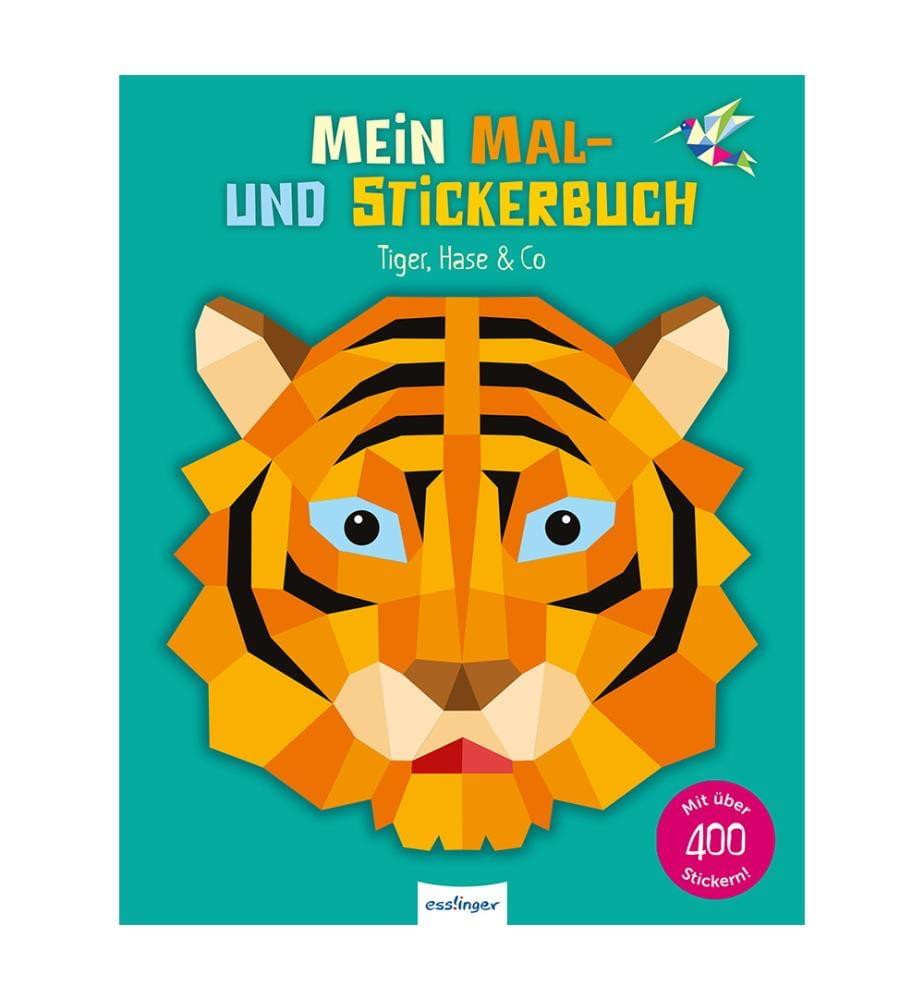 Mein Mal- und Stickerbuch: Tiger, Hase & Co