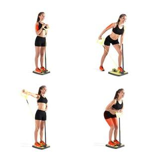 Plateforme de Fitness pour Fessiers et Jambes avec Guide d'Exercices - Jaune et Noir