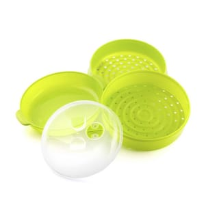 Cuiseur Vapeur pour Micro-ondes - Vert et Transparent