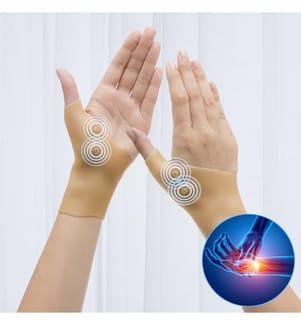 Bandage pour Poignets Magnetic Compression - Beige