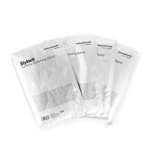 Lot de 4 Bandes d'amincissement abdominales aux extraits naturels Slybell