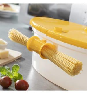 Cuiseur à Pâtes pour Micro-Ondes 4in1 - Jaune Foncé et Transparent