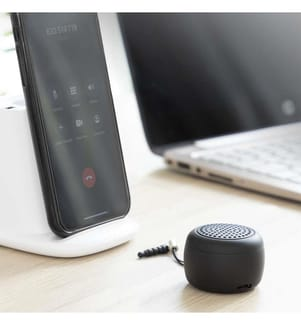 Mini Enceinte Portable et Rechargeable sans Fil Miund InnovaGoods Gadget Tech - Noir