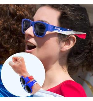Lunettes de Soleil Pliables France - Bleu