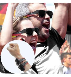 Lunettes de Soleil Pliables World Cup Germany - Noir et Rouge