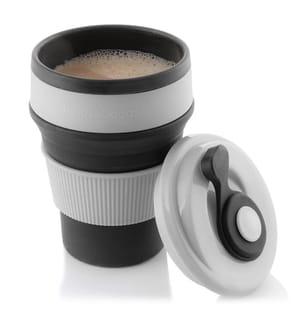 Tasse Rétractable en Silicone - Gris et Noir