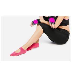 Chaussettes de Yoga - Rose