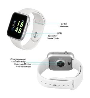 Montre Connectée Fitness Multifonction - Blanc