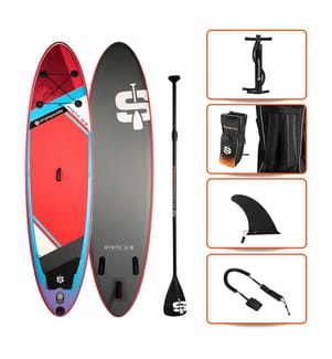 """SUP Gonflable Pack  Mystic 10.6"""" - Simple Paddle - Multicolore"""