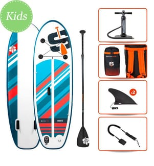 """SUP Gonflable Pack Junior 8.0"""" , Simple Paddle - Multicolore"""