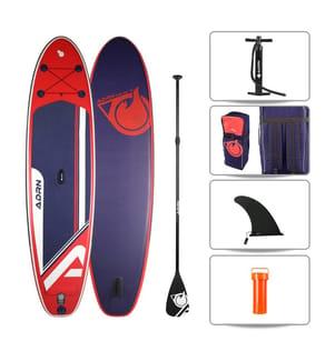 SUP Gonflable Pack ADRN Explorer - 10'8'' x 32'' x 6'' - Orange et Noir