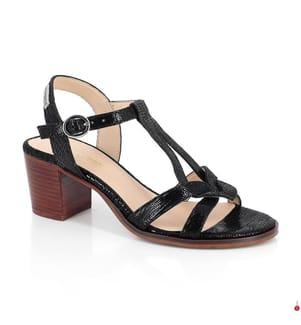 LES TROPEZIENNES - Leder-Sandalen mit Absatz Lila - Schwarz