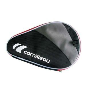 CORNILLEAU - Housse de batte de tennis de table en polyester noir, gris et rouge