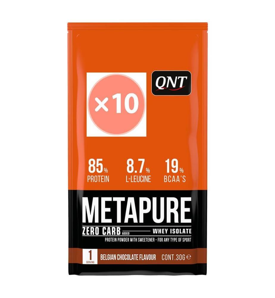 QNT Metapure Zero Carbo Chocolat Belge - 10 x 30g